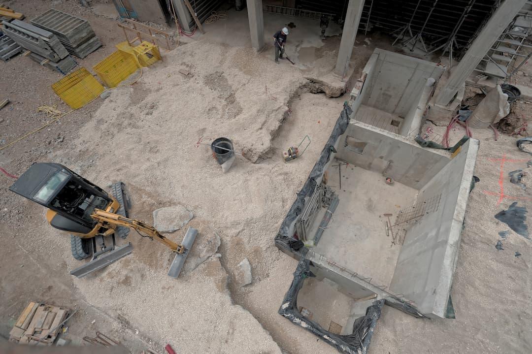 Restructuration et creusement de la fosse de réception du blé à la Minoterie Viron à Chartres
