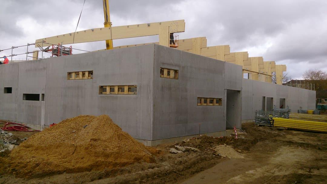 Prémurs en béton préfabriqués par ALM Construction et ACFA