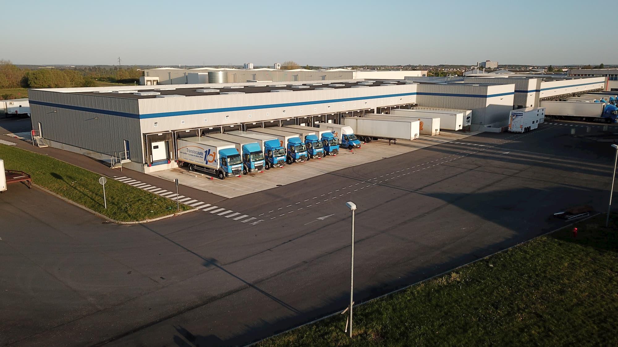 Intervention en construction ausein du batiment logistique TLA Group à Dreux