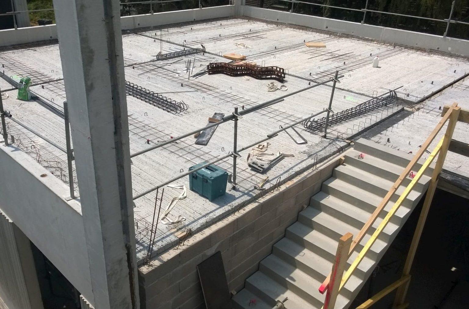 Construction d'une extension de bâtiment au sein de la SISTEL de Chartres
